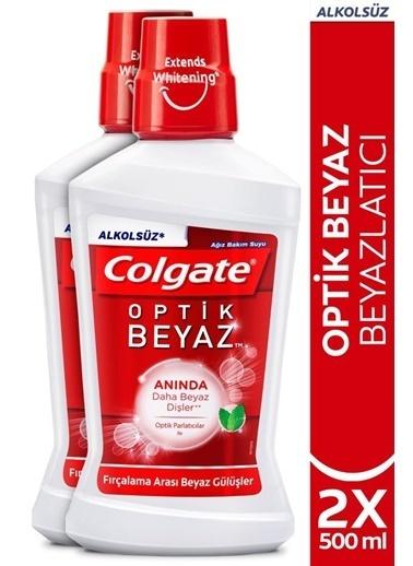 Colgate Colgate Optic White Latıcı Alkolsüz Ağız Bakım Suyu 2 X 500 Ml Renksiz